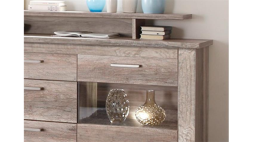 Sideboard MONTREAL in Canyon Monument Oak mit Aufsatz