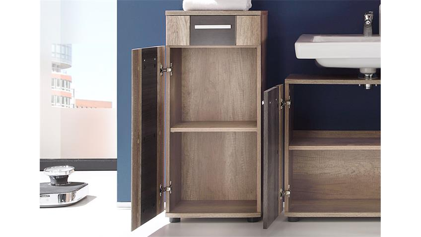 Badschrank STAR Bad Eiche Monument Oak und Touchwood