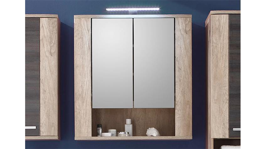 spiegelschrank star bad in eiche monument oak 70 cm. Black Bedroom Furniture Sets. Home Design Ideas
