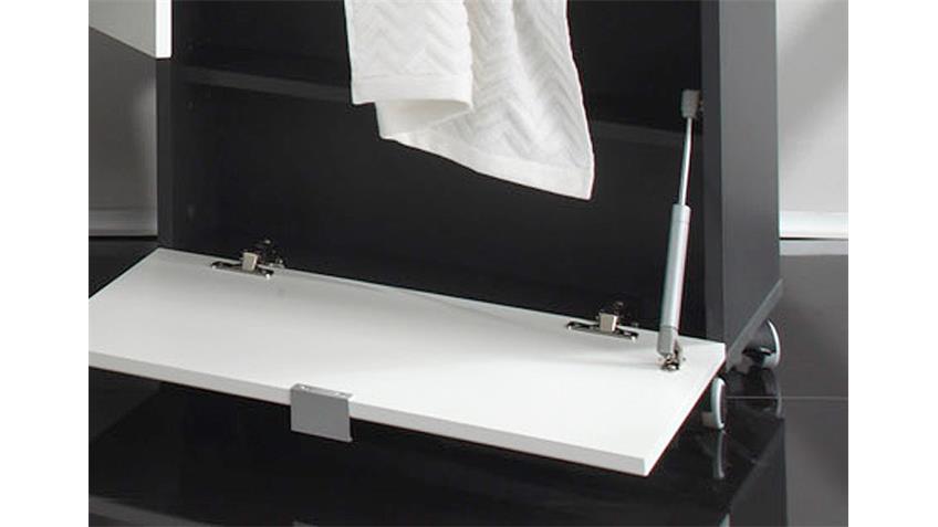 Sitzcontainer BEACH Badmöbel weiß Hochglanz Tiefzieh grau