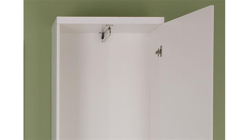 Garderobenschrank DERBY Garderobe weiß Hochglanz Tiefzieh