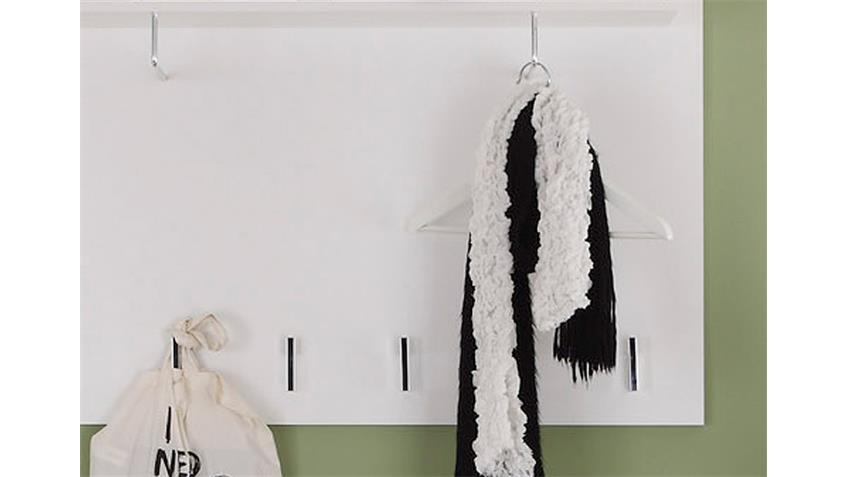 Garderobenpaneel DERBY Wandpaneel Garderobe in weiß