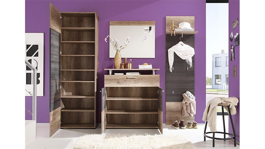 Wandspiegel POLO Garderobe Canyon Monument Oak 80x65