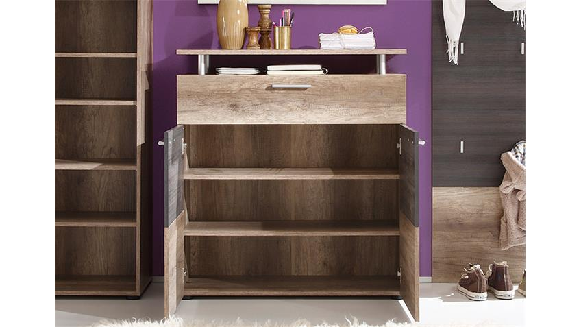Kommode POLO Garderobe Canyon Monument Oak Touchwood