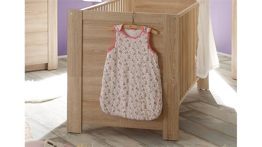 Babyzimmer Set 2 CARLOTTA in Eiche sägerau hell 3 teilig