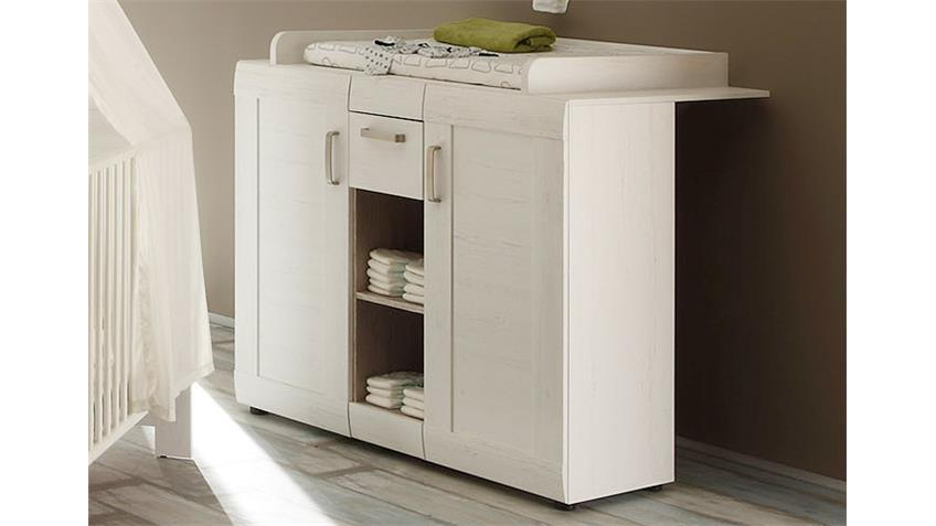 wickelkommode landi in pinie struktur wei 85x75 cm. Black Bedroom Furniture Sets. Home Design Ideas