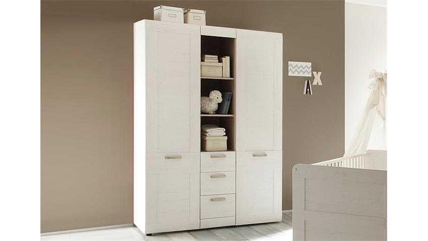 kleiderschrank landi in pinie struktur wei 2 t rig. Black Bedroom Furniture Sets. Home Design Ideas