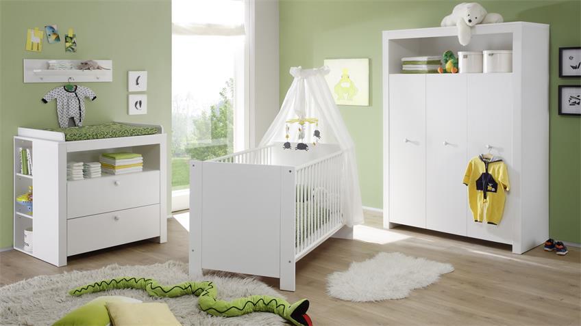 Unterstellregal Olivia 3 Fächer weiß für Wickeltisch Babyzimmer