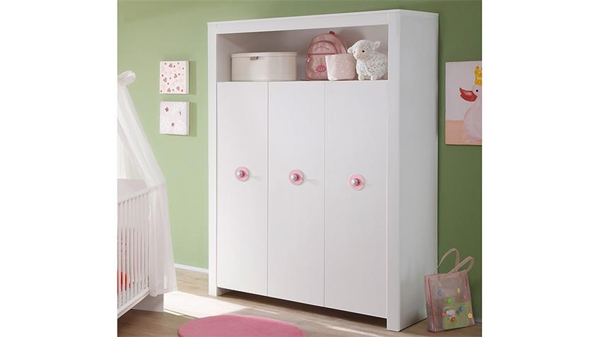 kleiderschrank babyzimmer olivia schrank in wei 3 t rig. Black Bedroom Furniture Sets. Home Design Ideas