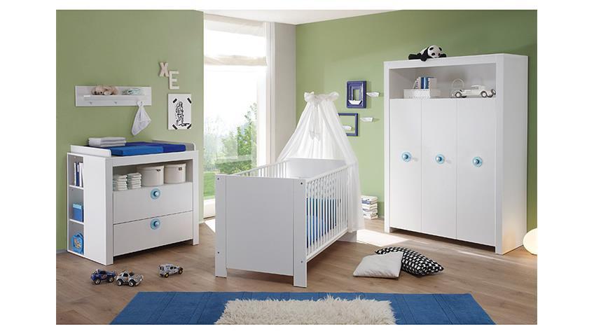 Babyzimmer Set OLIVIA Kinderzimmer in weiß 3 teilig