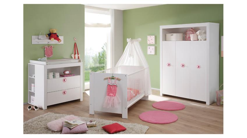 babyzimmer set olivia kinderzimmer in wei 3 teilig. Black Bedroom Furniture Sets. Home Design Ideas