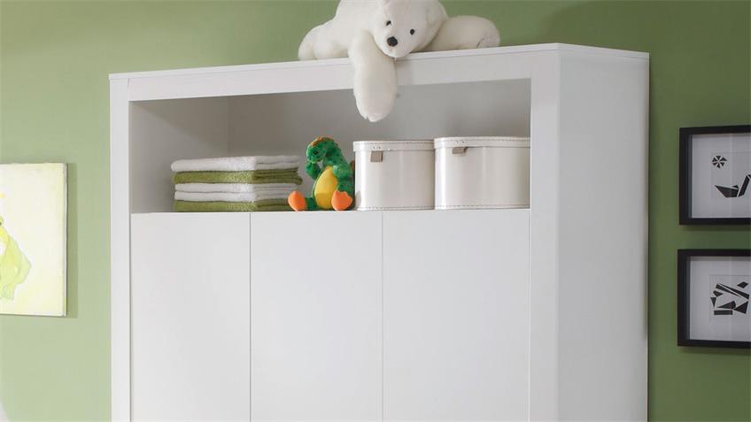 Babyzimmer Set Olivia Kinderzimmer in Weiß 3-teilig