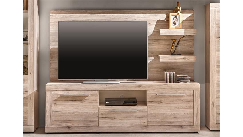 TV Unterteil PASSAT Unterschrank Lowboard in Eiche sand