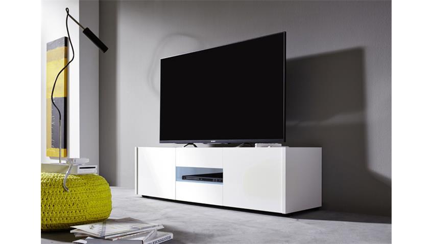 Lowboard IMOLA TV Unterteil weiß hochglanz Lack 130 cm