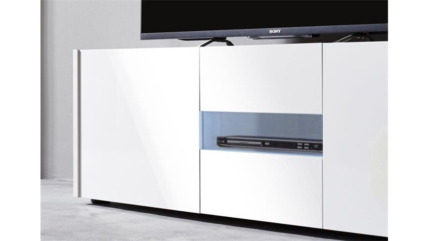 Lowboard IMOLA TV Unterteil weiß hochglanz Lack 150 cm
