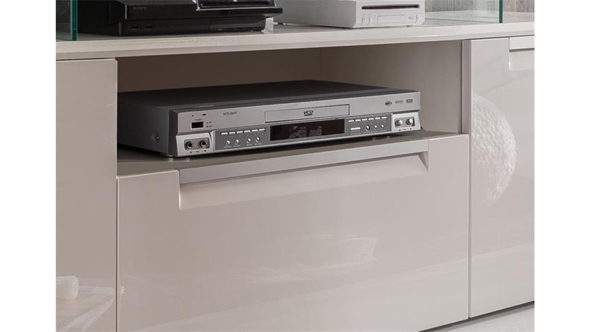Lowboard ALU LINE TV Unterteil weiß hochglanz 2-türig