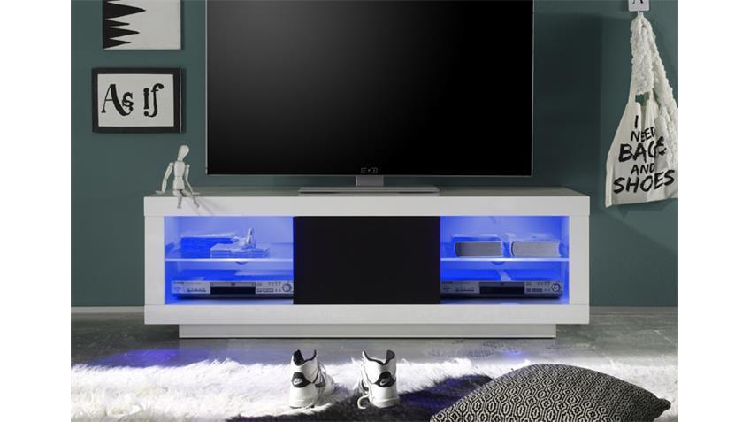 TV Lowboard PADUA Mediaboard weiß hochglanz 150 cm