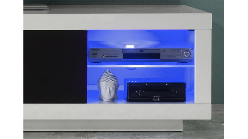TV Lowboard PADUA Mediaboard weiß hochglanz 180 cm