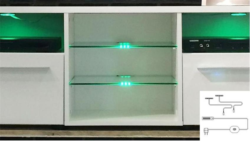 Glaskantenbeleuchtung RGB LED 2er Set Farbwechsellicht