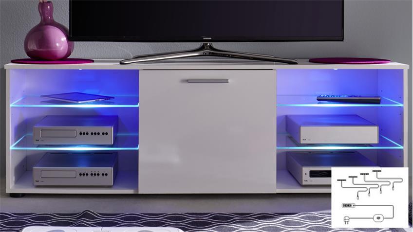 Glaskantenbeleuchtung RGB LED 4er Set Farbwechsellicht