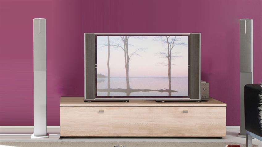 tv board tetis tv lowboard eiche san remo 140 cm breit. Black Bedroom Furniture Sets. Home Design Ideas