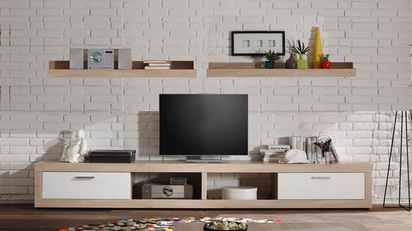 Wohnkombi OCEAN TV Board Wandboard Sonoma Eiche