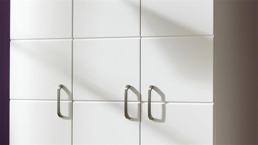 Kleiderschrank LUCCAS in Weiß Matt mit 3 Türen B 131 cm