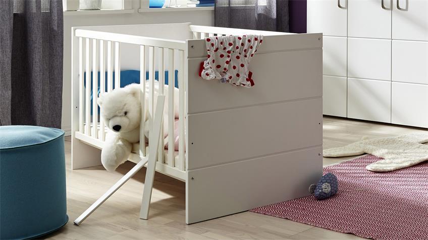 Babyzimmer LUCCAS in Weiß Matt als 5 Teiliges Set