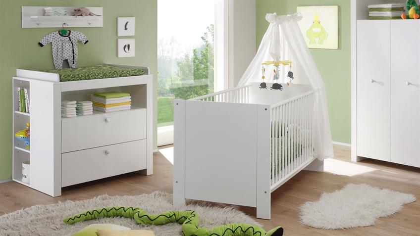 Babyzimmer 5-teilig  OLIVIA Komplettset Kinderzimmer weiß 5-teilig