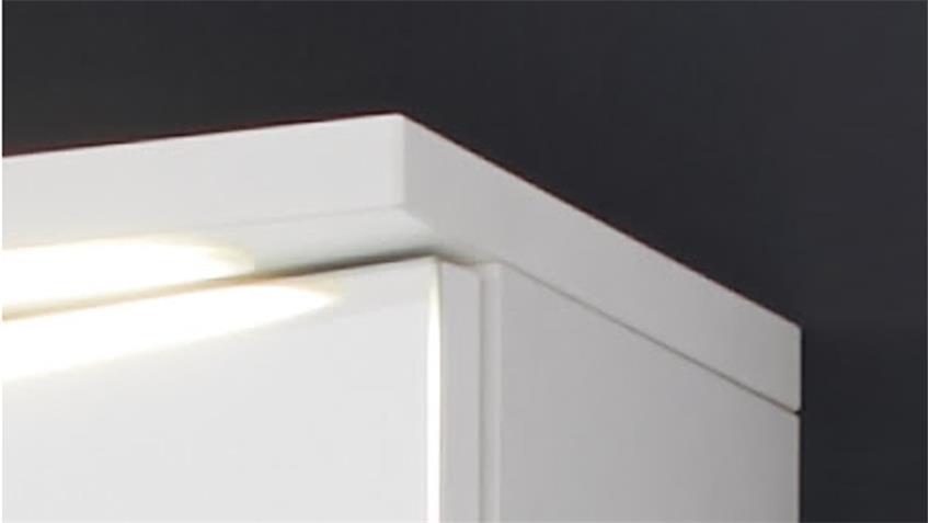 Spiegelschrank ADAMO 75x73 weiß LED Schalter-Steckdosenbox