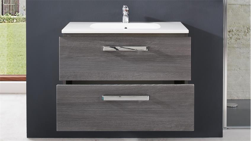 Waschbeckenunterschrank ADAMO Sardegna Rauchsilber 81 cm