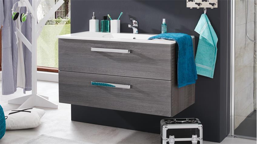 Waschbeckenunterschrank ADAMO Sardegna Rauchsilber 101 cm