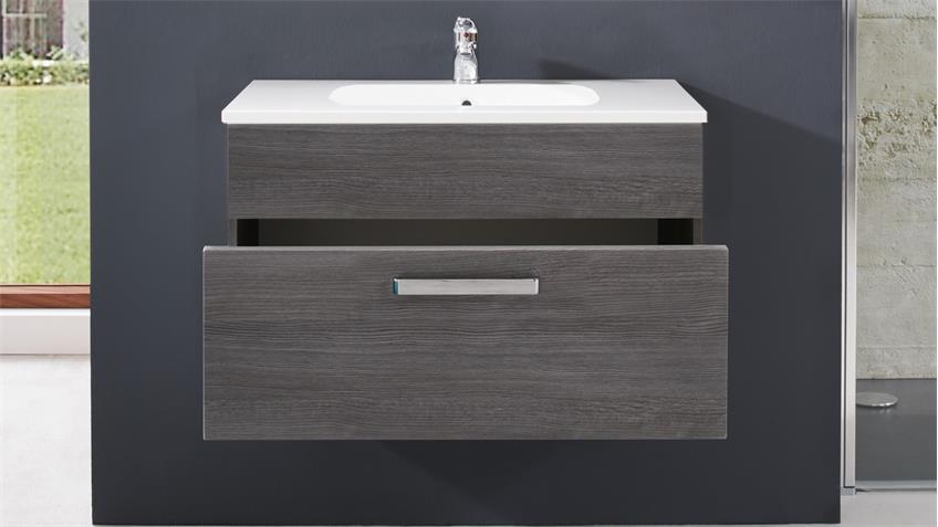 Waschbecken Unterschrank ADAMO Sardegna Rauchsilber 81 cm