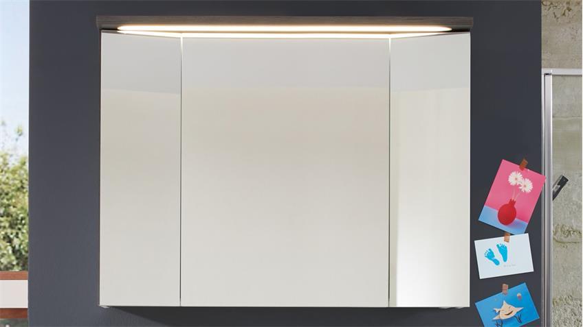 Spiegelschrank ADAMO LED und Schalter-Steckdosenbox 96x73