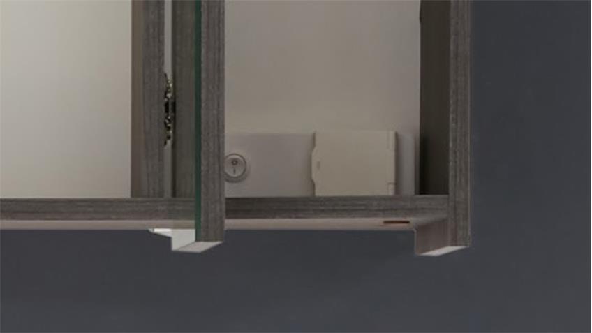 Badezimmer Set ADAMO Sardegna Rauchsilber tiefzieh Badmöbel