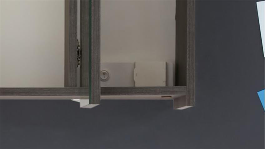 Badezimmer Set ADAMO 2-tlg in Sardegna Rauchsilber tiefzieh