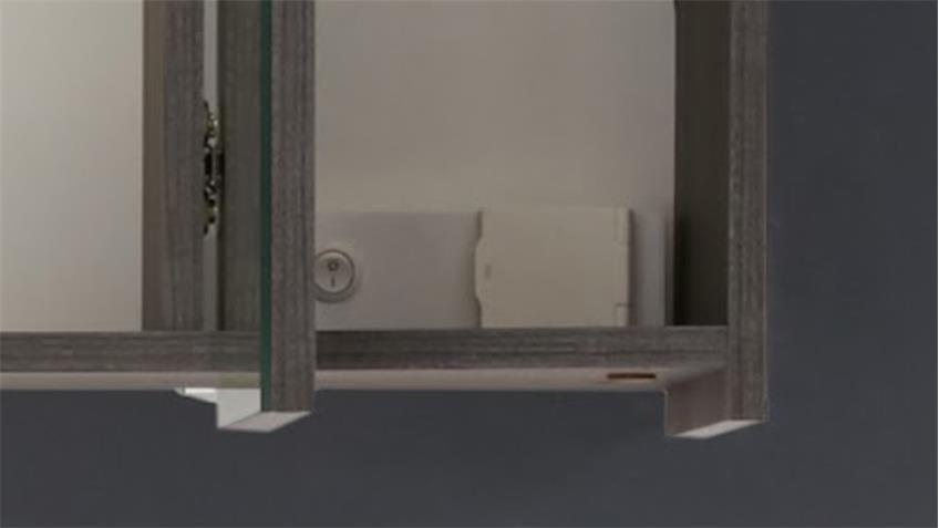 Badezimmer Set ADAMO Bad 2-teilig in Sardegna Rauchsilber