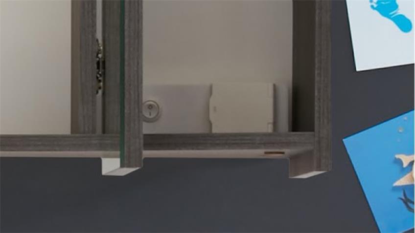 Badezimmer Set ADAMO 2-tlg in Rauchsilber Badset