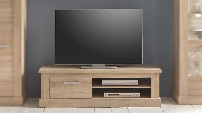 TV Board 2 MONTREAL Lowboard TV Unterteil in Eiche Sägerau hell