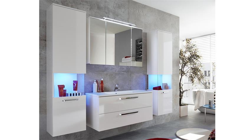 Spiegelschrank SKY 99x71 in weiß Hochglanz Badspiegel