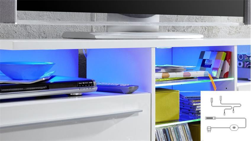 Unterbauspot 3er Set LED Farbwechsel-Licht inkl. Trafo