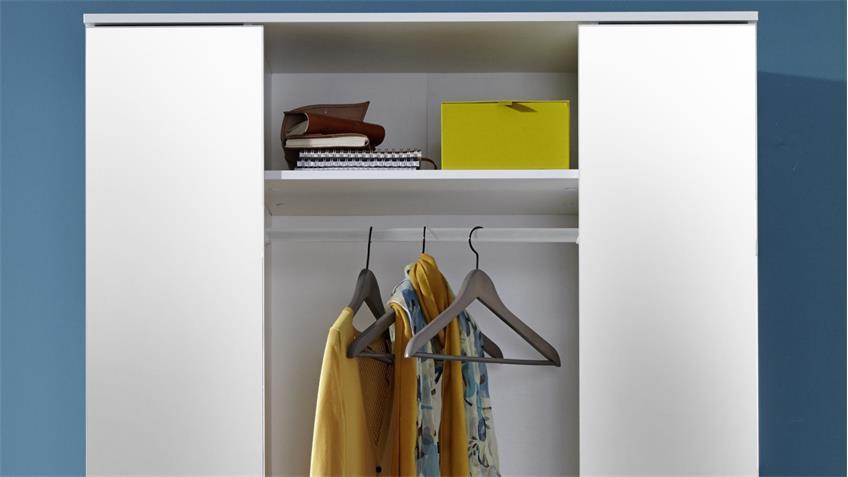 Garderobenschrank ELA in weiß Dekor Dielenschrank Flurmöbel
