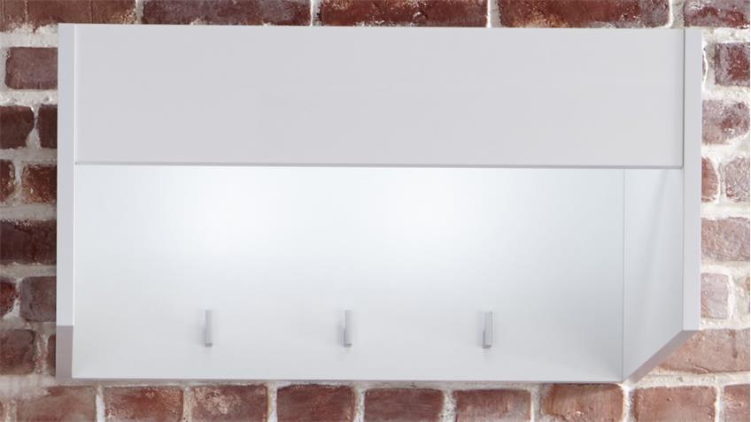 Garderobenpaneel IMOLA in weiß Hochglanz Wandpaneel