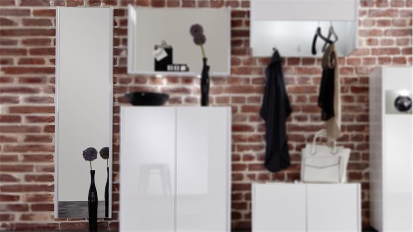 Wandspiegel IMOLA in weiß Hochglanz Garderobenspiegel
