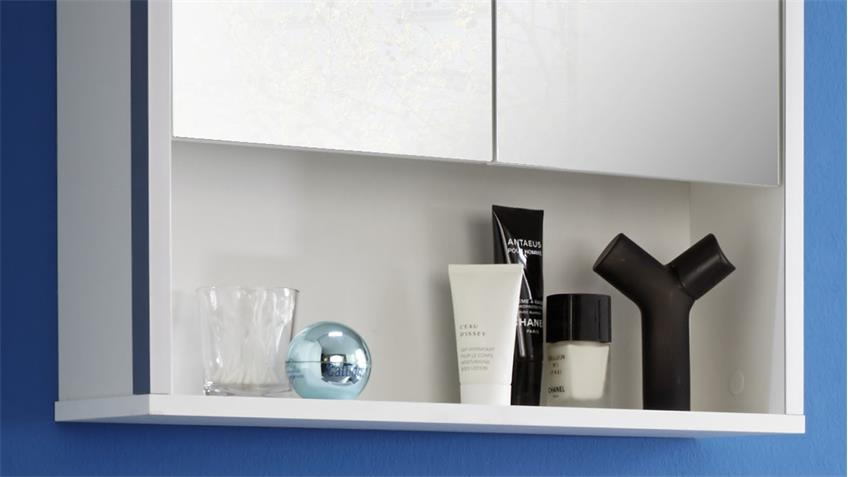 Bad Spiegelschrank TRISTO in weiß Melamin Wandspiegel