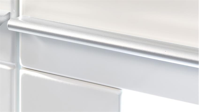 Vitrine VISION in weiß Hochglanz tiefzieh inkl. LED