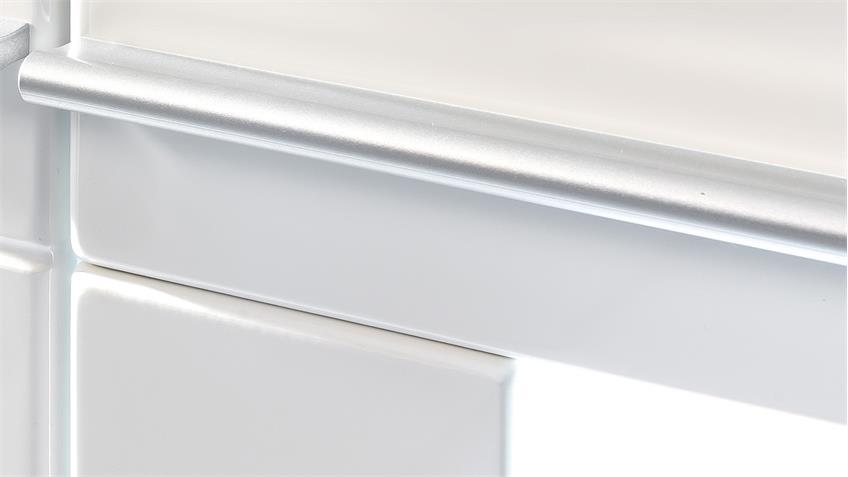 Highboard VISION inkl. LED in weiß Hochglanz tiefzieh