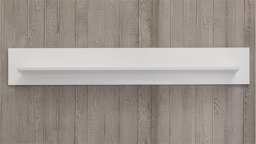 Wandboard LEO Wandregal in weiß Hochglanz lackiert
