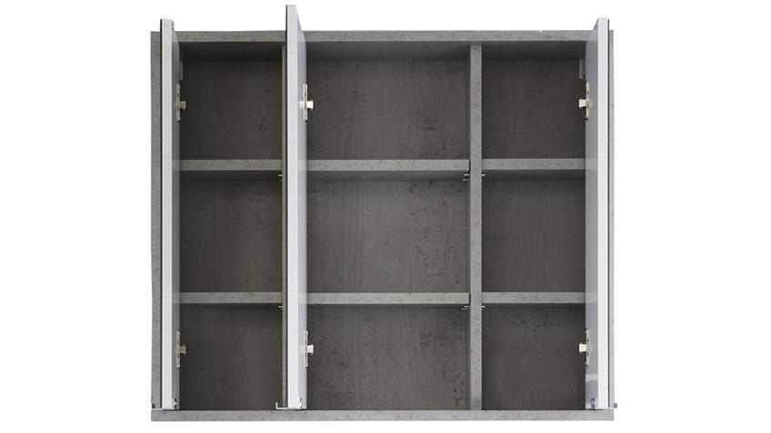 Spiegelschrank SPA in Beton Industry grau