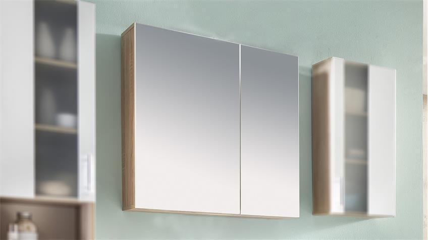 Spiegelschrank PORTO in Eiche Sägerau Melamin